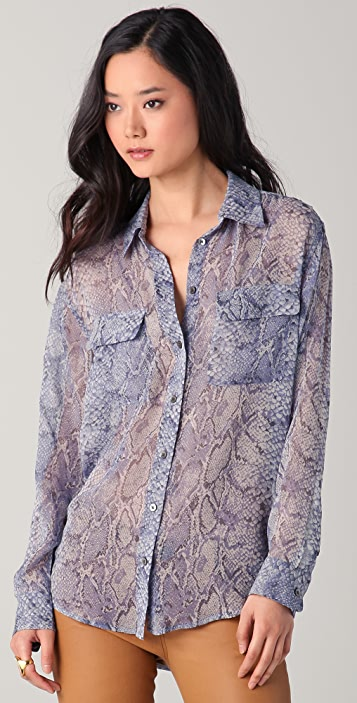 Equipment Signature Python Print Blouse