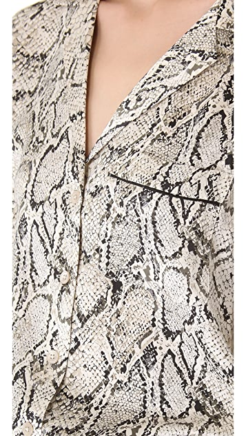 Equipment Keira Python Blouse
