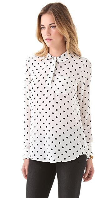 Equipment Adele Cherie Dot Blouse