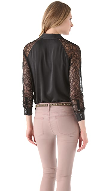 Equipment Quinn Blouse with Lace Sleeves