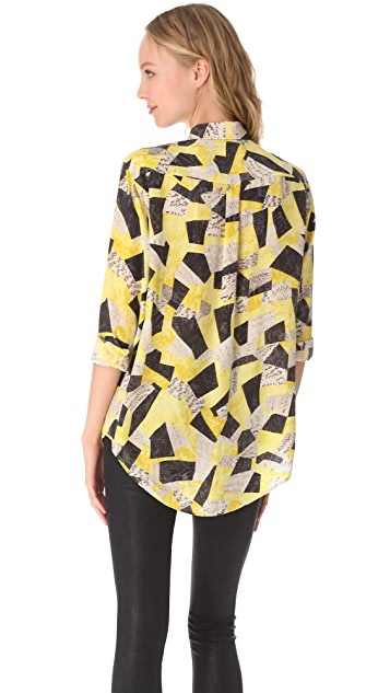 Equipment Signature Patchwork Blouse