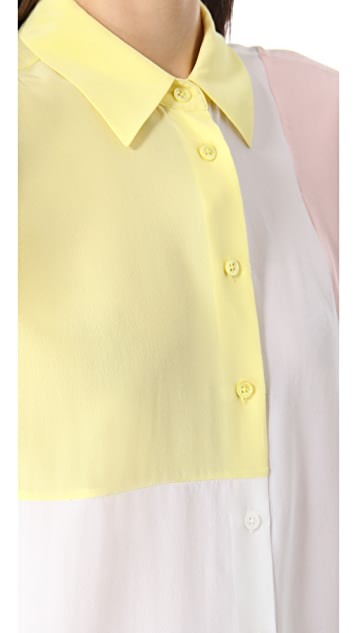 Equipment Diem Clean Blouse with Insets