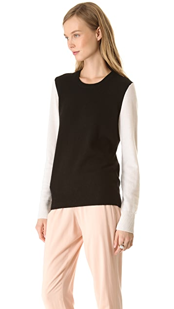 Equipment Shane Colorblock Cashmere Sweater