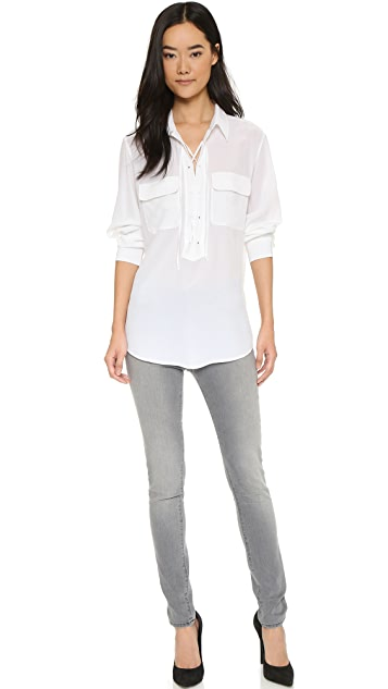 Equipment Knox Laced Henley Top