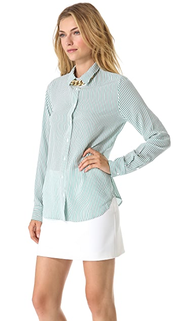 Equipment Audrey Linear Division Blouse