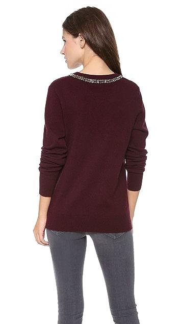 Equipment Shane Embellished Neck Sweater