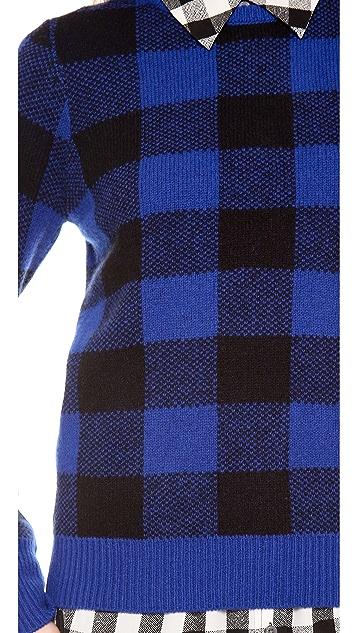 Equipment Shane Plaid Crew Neck Sweater