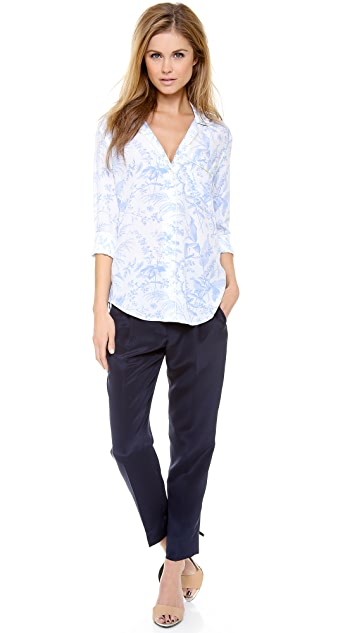 Equipment Keira Blouse with Piping