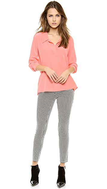 Equipment Long Sleeve Arden Blouse