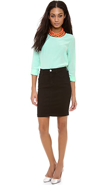 Equipment Liam Colorblock Blouse