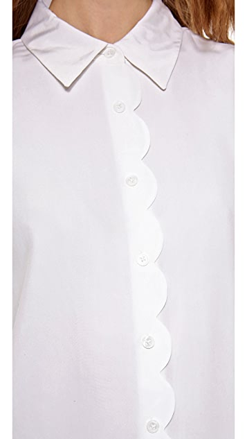 Equipment Brett Blouse with Scalloping