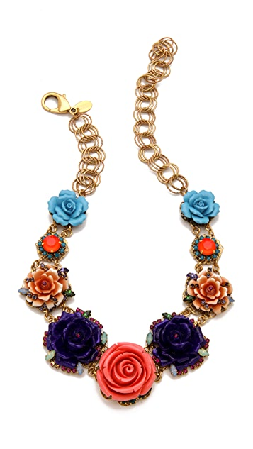 Erickson Beamon Rose Garden Bib Necklace