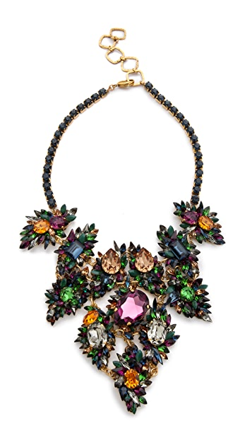 Erickson Beamon Crystal Bib Necklace
