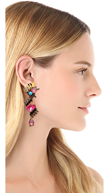 Erickson Beamon Aquarella Do Brasil Drop Earrings