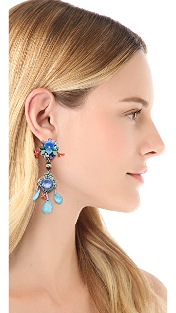 Erickson Beamon We've Got the Power Flower Earrings