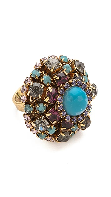 Erickson Beamon Girls on Film Oversized Ring