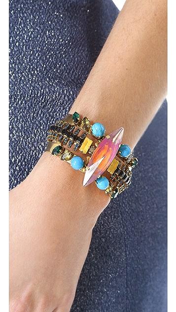Erickson Beamon Aquarella Do Brasil Cuff Bracelet