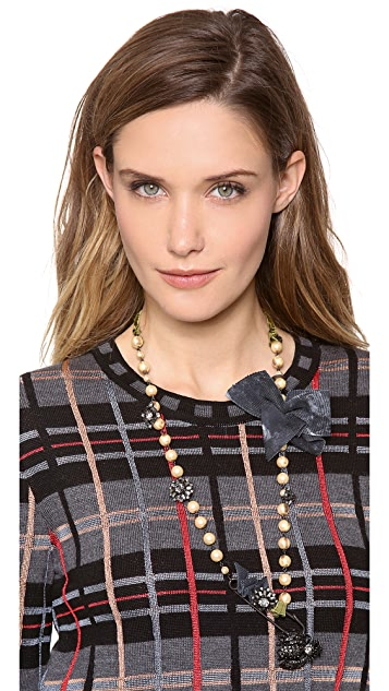 Erickson Beamon Take Everything Safety Pin Necklace