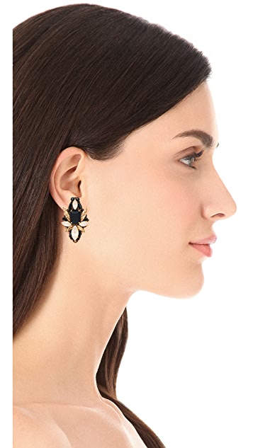 Erickson Beamon Girls On Film Crystal Statement Earrings