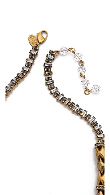 Erickson Beamon Velocity Crystal Drop Necklace