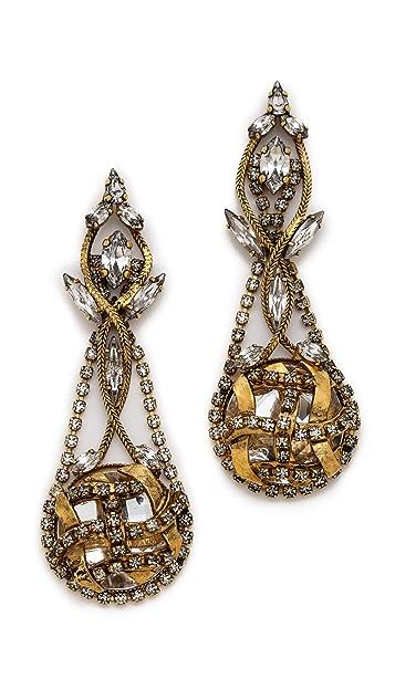 Erickson Beamon Heart of Gold Circle Drop Earrings