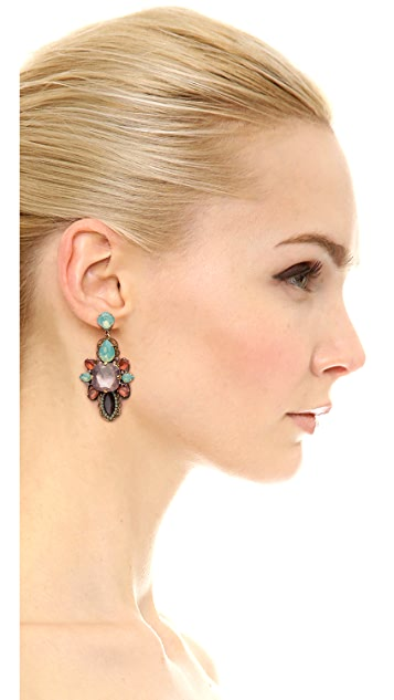 Erickson Beamon Cosmic Code Gem Earrings