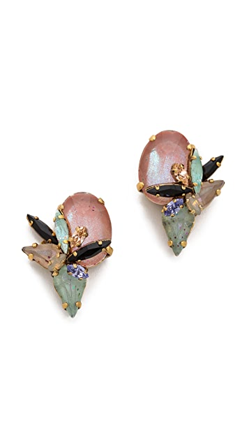 Erickson Beamon Cosmic Code Stud Earrings