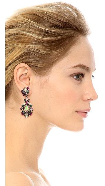Erickson Beamon Cosmic Code Teardrop Earrings