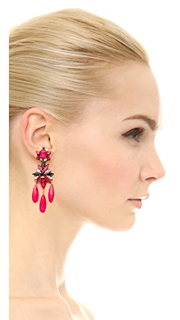Erickson Beamon Queen Bee Triple Drop Earrings