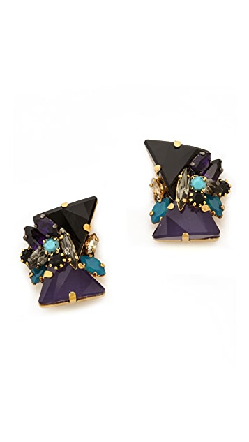 Erickson Beamon Talitha Stud Earrings