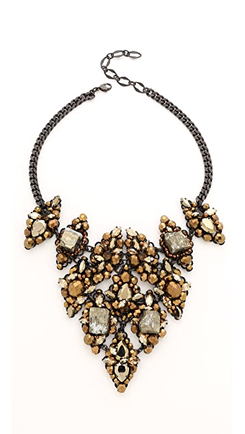 Erickson Beamon Golden Rule Bib Necklace