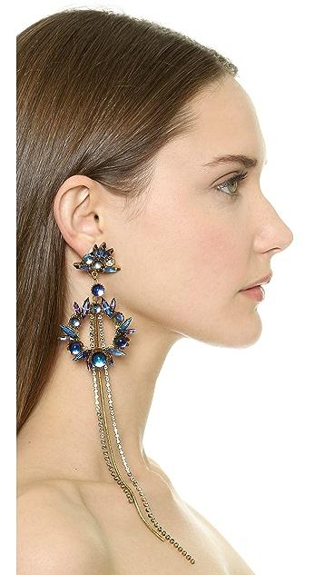 Erickson Beamon Temperal Schism Statement Earrings