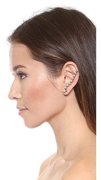 Erickson Beamon Left Glass Pearl Ear Crawler