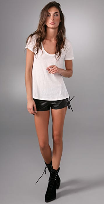 Erin Wasson X RVCA Soulless Leather Shorts