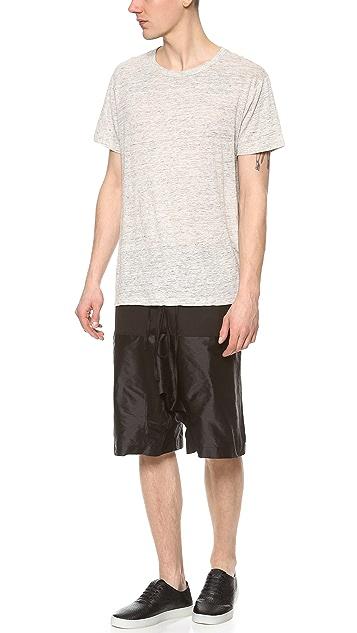 E. Tautz Rupert Contrast Shorts