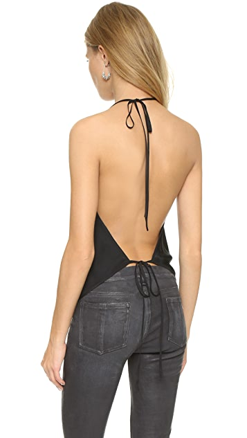 Emerson Thorpe Open Back Halter Top