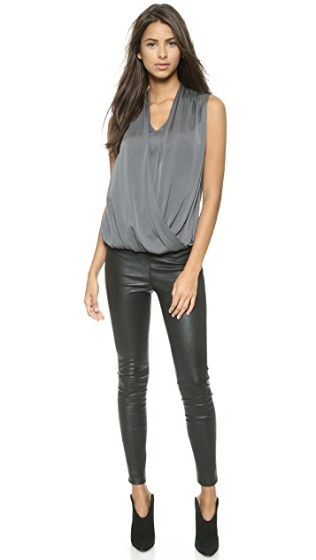 Emerson Thorpe Eden Draped Sleeveless Top