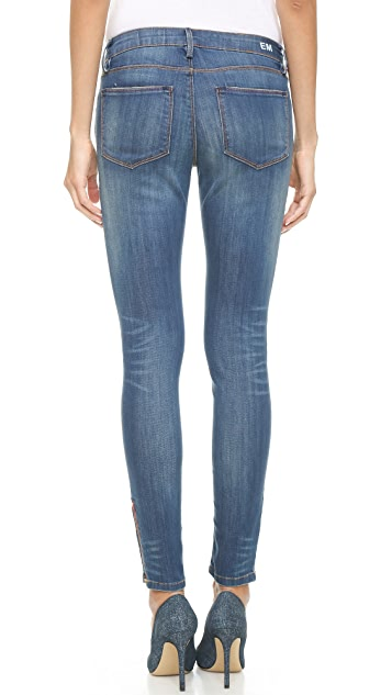 Etienne Marcel Mid Rise Skinny Jeans with Side Zip