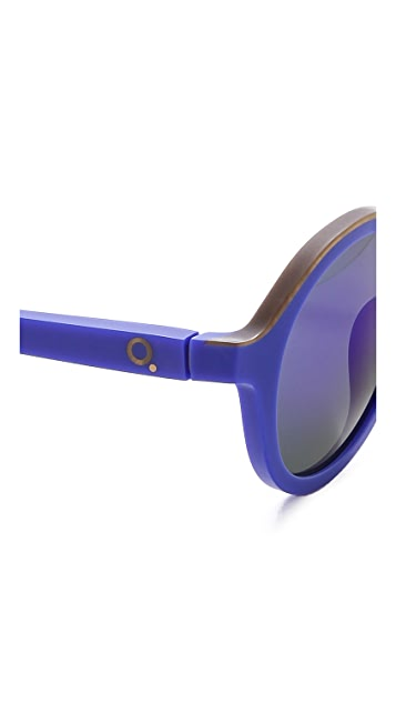 Etnia Barcelona Klein Internation Blue Round Sunglasses