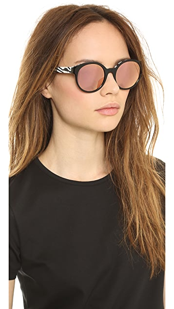 Etnia Barcelona Africa 01 Mirrored Zebra Sunglasses
