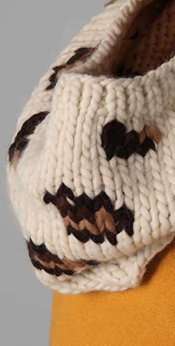 Eugenia Kim Kylie Leopard Jacquard Cowl Scarf