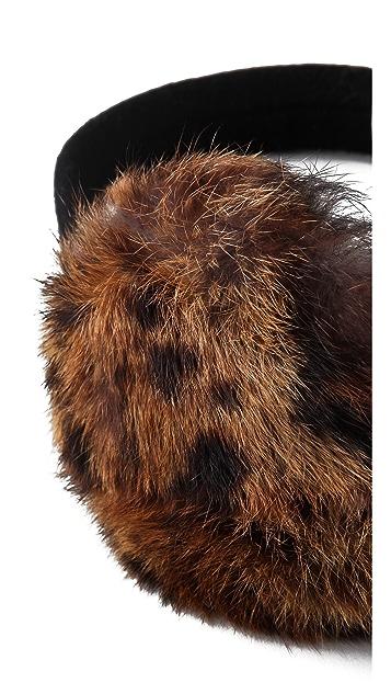 Eugenia Kim Janine Leopard Fur Earmuffs