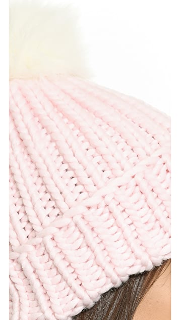 Eugenia Kim Rain Two Tone Pom Pom Hat