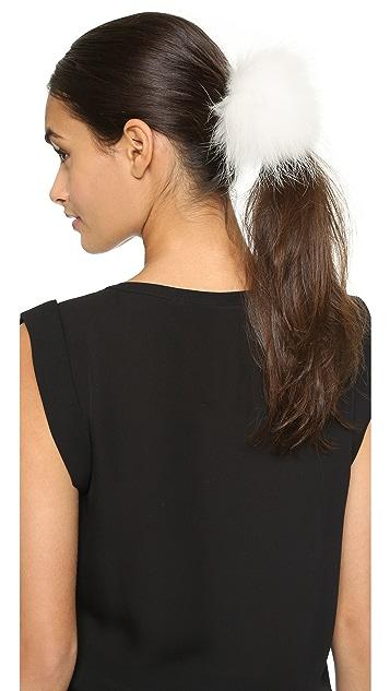 Eugenia Kim Antonia Fur Hair Tie