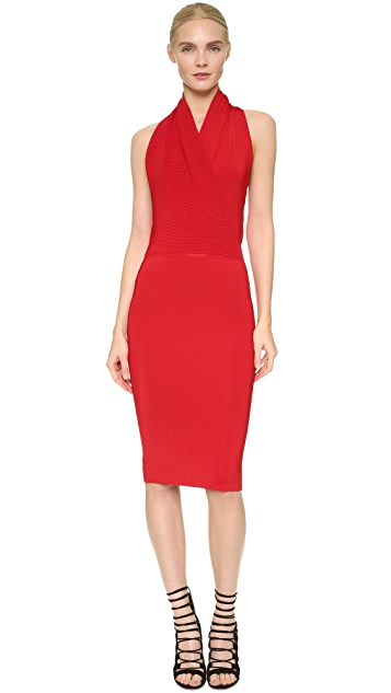 Emanuel Ungaro Wrap Halter Dress