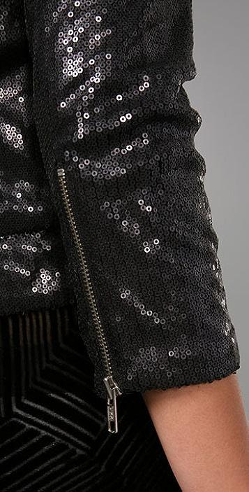 Evil Twin Crop Sequins Biker Jacket