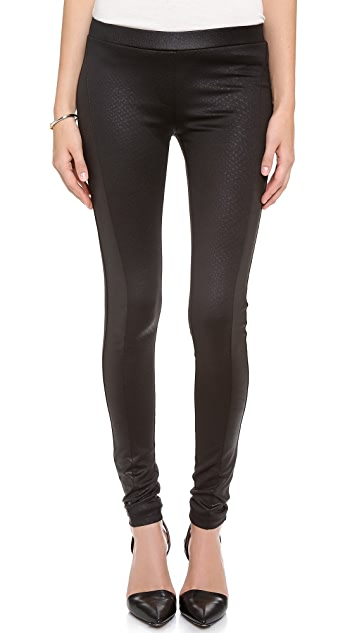 EVLEO Black Snake Leggings