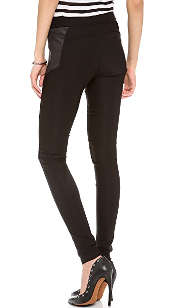 EVLEO Black Colorblock Leggings