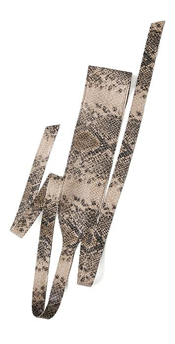 Elegantly Waisted Snake Cummerbund Belt
