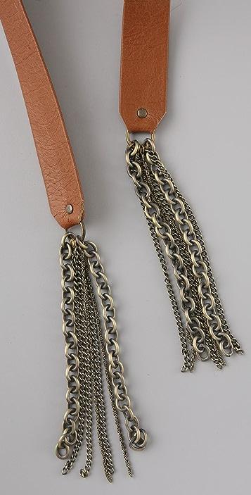Elegantly Waisted Chain Cummerbund Belt